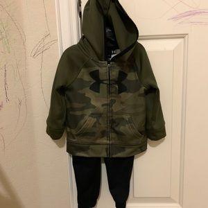 Under armor boys 2 piece set 12months hoodie+pants